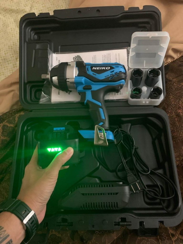 NEIKO 10878A Cordless Impact Wrench - BEST BATTERY BACKUP IMPACT WERNCH FOR SCAFFOLDING