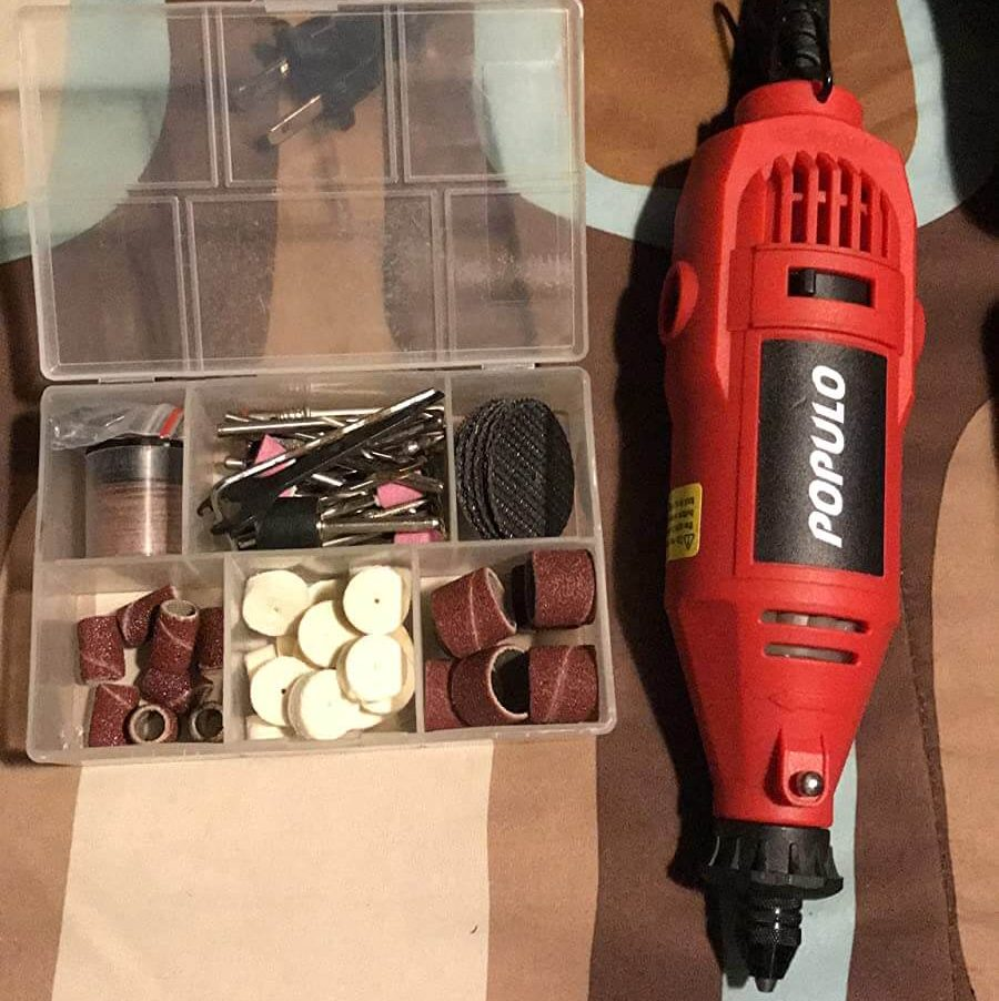 POPULO RTK-107 Rotary Tool Kit with Flex Shaft